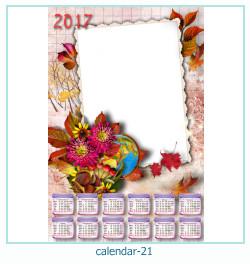 calendario marco de fotos 21