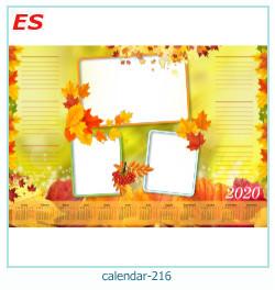 calendario marco de fotos 216