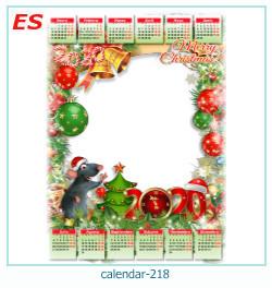 calendario marco de fotos 218