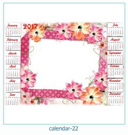 calendario marco de fotos 22