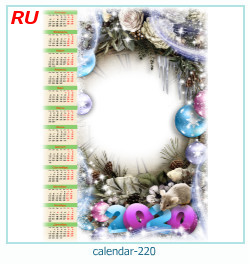 calendario marco de fotos 220