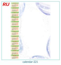 calendario marco de fotos 221