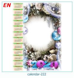 calendario marco de fotos 222