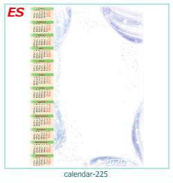 calendario marco de fotos 225