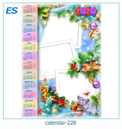calendario marco de fotos 228