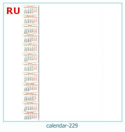 calendario marco de fotos 229