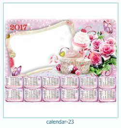 calendario marco de fotos 23