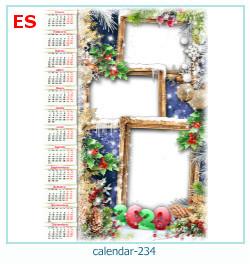 calendario marco de fotos 234