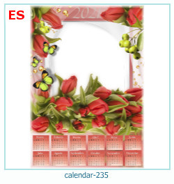 naptár képkeret 235