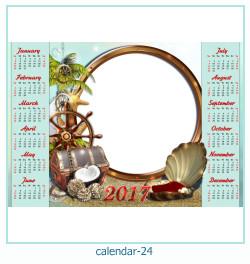 calendario marco de fotos 24