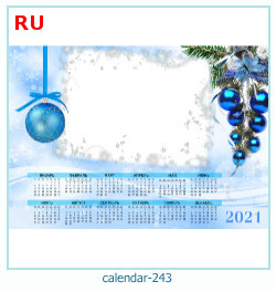naptár képkeret 243