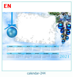 calendar photo frame 244