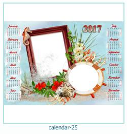 calendario fotografico cornice 25