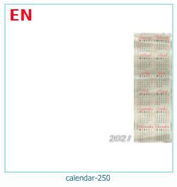 naptár képkeret 250