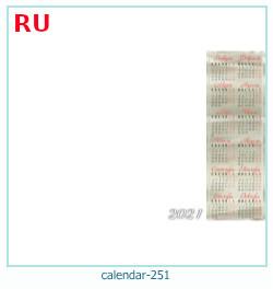 naptár képkeret 251