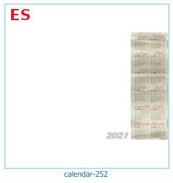 naptár képkeret 252