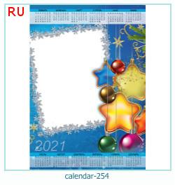 naptár képkeret 254