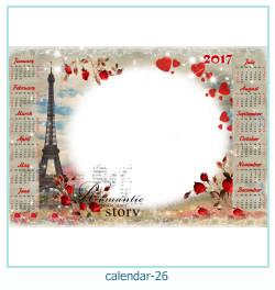 calendario marco de fotos 26