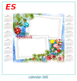 calendario marco de fotos 260