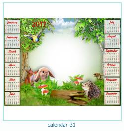 calendario fotografico cornice 31