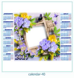 calendario fotografico cornice 40