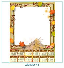 calendário moldura 46