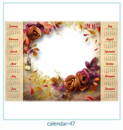 calendário moldura 47