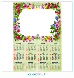 calendrier cadre photo 51