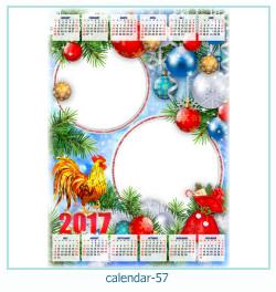 calendário moldura 57