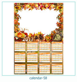 calendário moldura 58