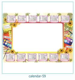 calendário moldura 59