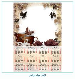 calendário moldura 60