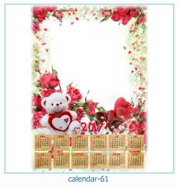 calendário moldura 61