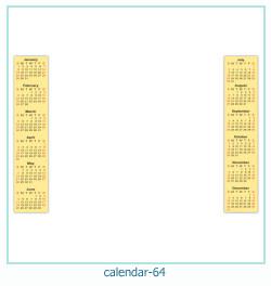 calendário moldura 64