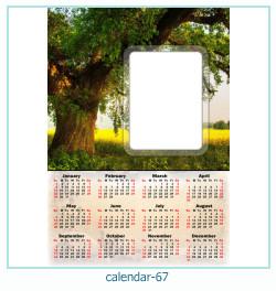 calendário moldura 67