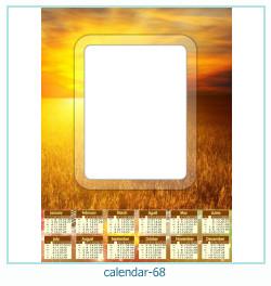 calendário moldura 68