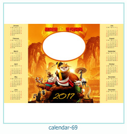 calendário moldura 69
