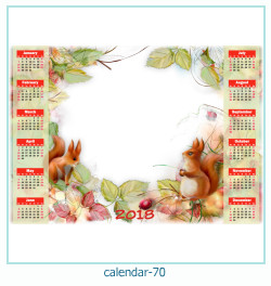 calendário moldura 70