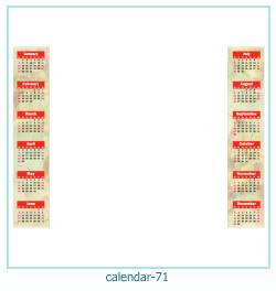 calendário moldura 71