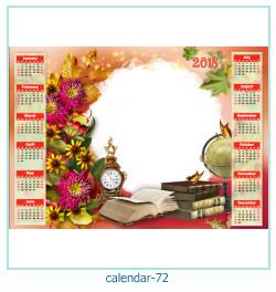 calendário moldura 72