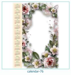 calendário moldura 76