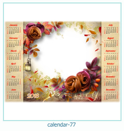 calendário moldura 77