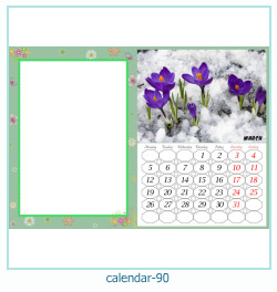calendario marco de fotos 90