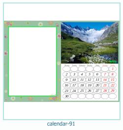 calendario marco de fotos 91