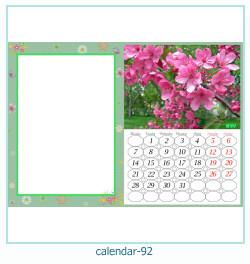 calendario marco de fotos 92