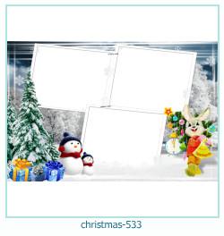 Marco de la foto de la navidad 533
