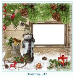 Marco de la foto de la navidad 542