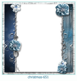 Marco de la foto de la navidad 651