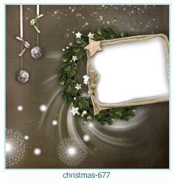 Marco de la foto de la navidad 677
