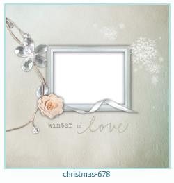 Marco de la foto de la navidad 678